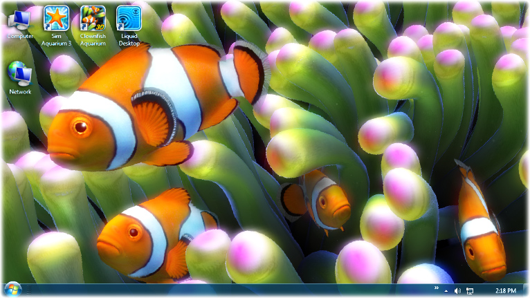 Click to view Sim Aquarium - Clownfish Live Wallpaper screenshots